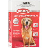 Nuheart Generic Heartgard For Large Dogs 51-100lbs Red 6 Tablet