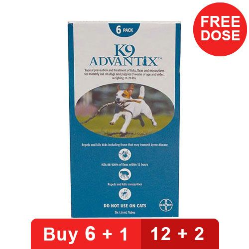 K9 Advantix Medium Dogs 11-20 lbs (Aqua)