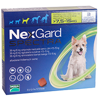 Nexgard Spectra Tab Medium Dog 16