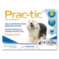 Prac-tic Spot On for Dogs 50-110 lbs (White)