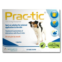 Prac-Tic Spot On For Dogs 10-25 Lbs Green 3 Pack