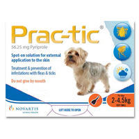 Prac-Tic Spot On For Dogs 4.5-10 Lbs Orange 3 Pack
