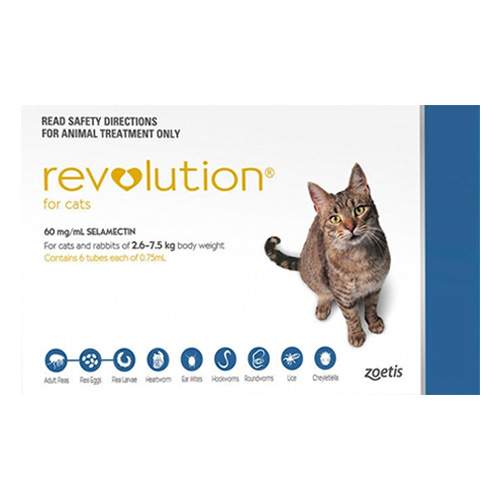 Revolution For Cats 5 -15lbs Blue 3 Doses