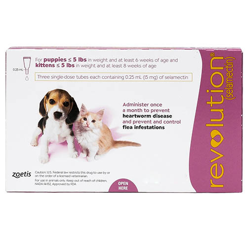 Revolution For Kittens / Puppies Pink 3 Doses