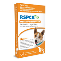 """Rspca Heartworm Tablets Large Dog 45-88lb Orange, 21-40kg 6 Tablet"""