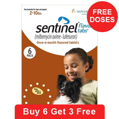 Sentinel For Dogs 2-10 lbs (Brown)