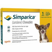 Simparica Chewables For Dogs 2.8-5.5 Lbs Yellow 3 Pack