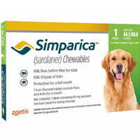 Simparica Chewables For Dogs 44.1-88 Lbs Green 3 Pack