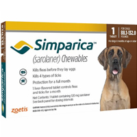 Simparica Chewables For Dogs Above 88 Lbs Red 3 Pack
