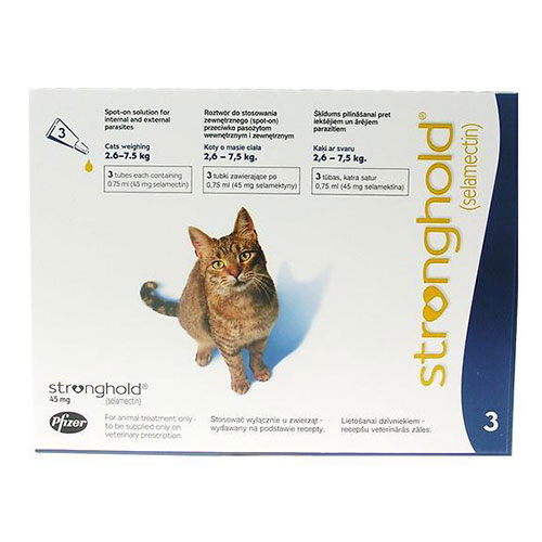Stronghold Cats Upto 7.5 Kg 45 Mg 3 Pipette
