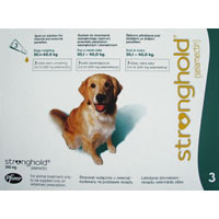 Stronghold Dogs 20.1-40.0 Kg 240 Mg Green 3 Pipette