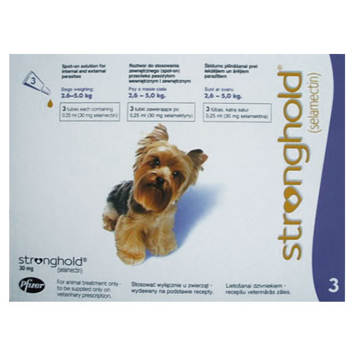Stronghold Dogs 2.6-5.0 Kg 30 Mg Violet 3 Pipette