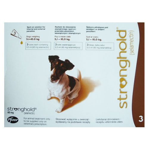 Stronghold Dogs 5.1-10.0 Kg 60 Mg Brown 3 Pipette