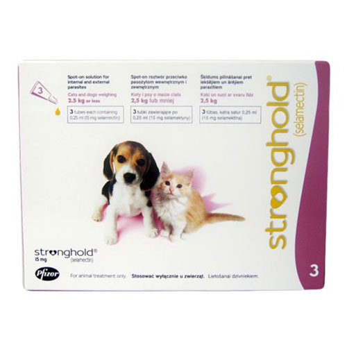Stronghold Kittens & Puppy Upto 2.6 Kg 15 Mg Rose 3 Pipette