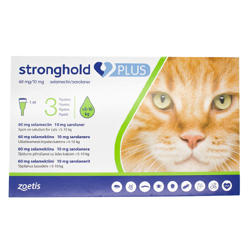 Stronghold Plus for Large Cats 11-24lbs (5-10Kg) Green